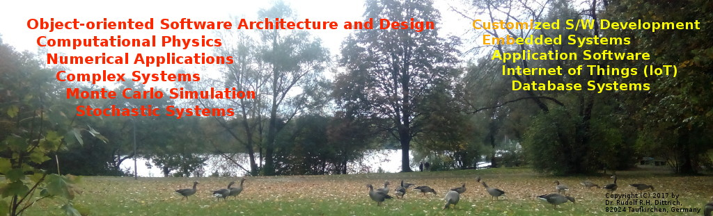 Geese at Lake Lerchenau, Munich — Image copyright © 2017 by Rudolf R.H. Dittrich, 82024 Taufkirchen, Germany.